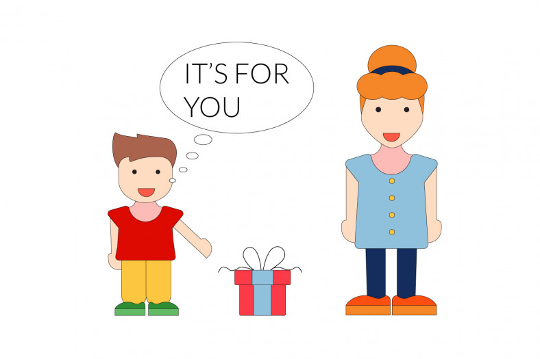 Personal pronouns: It's for you