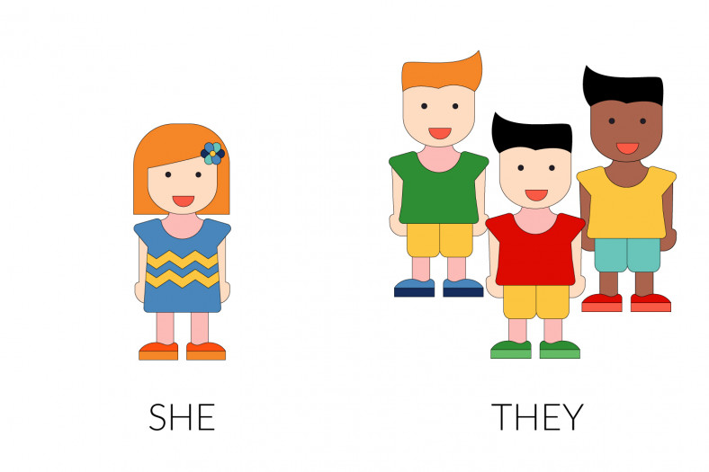 Personal pronouns: She - They