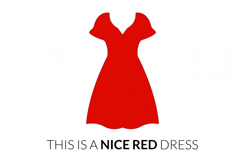 Adjectives of quality: This is a nice red dress