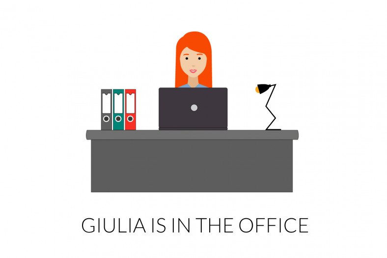 Definite articles: Giulia is in the office
