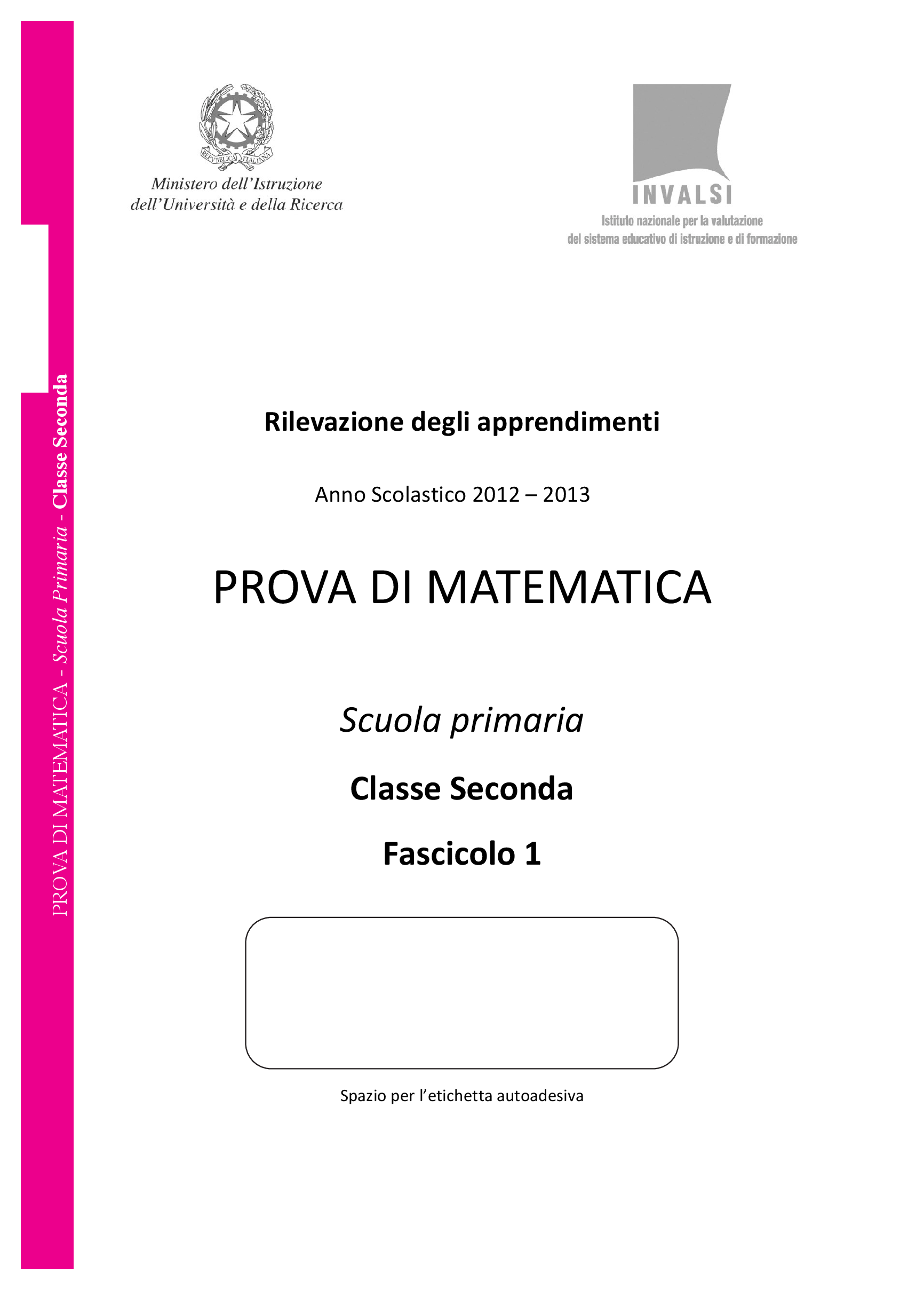 Invalsi-Primaria-seconda-2013 pg. 1