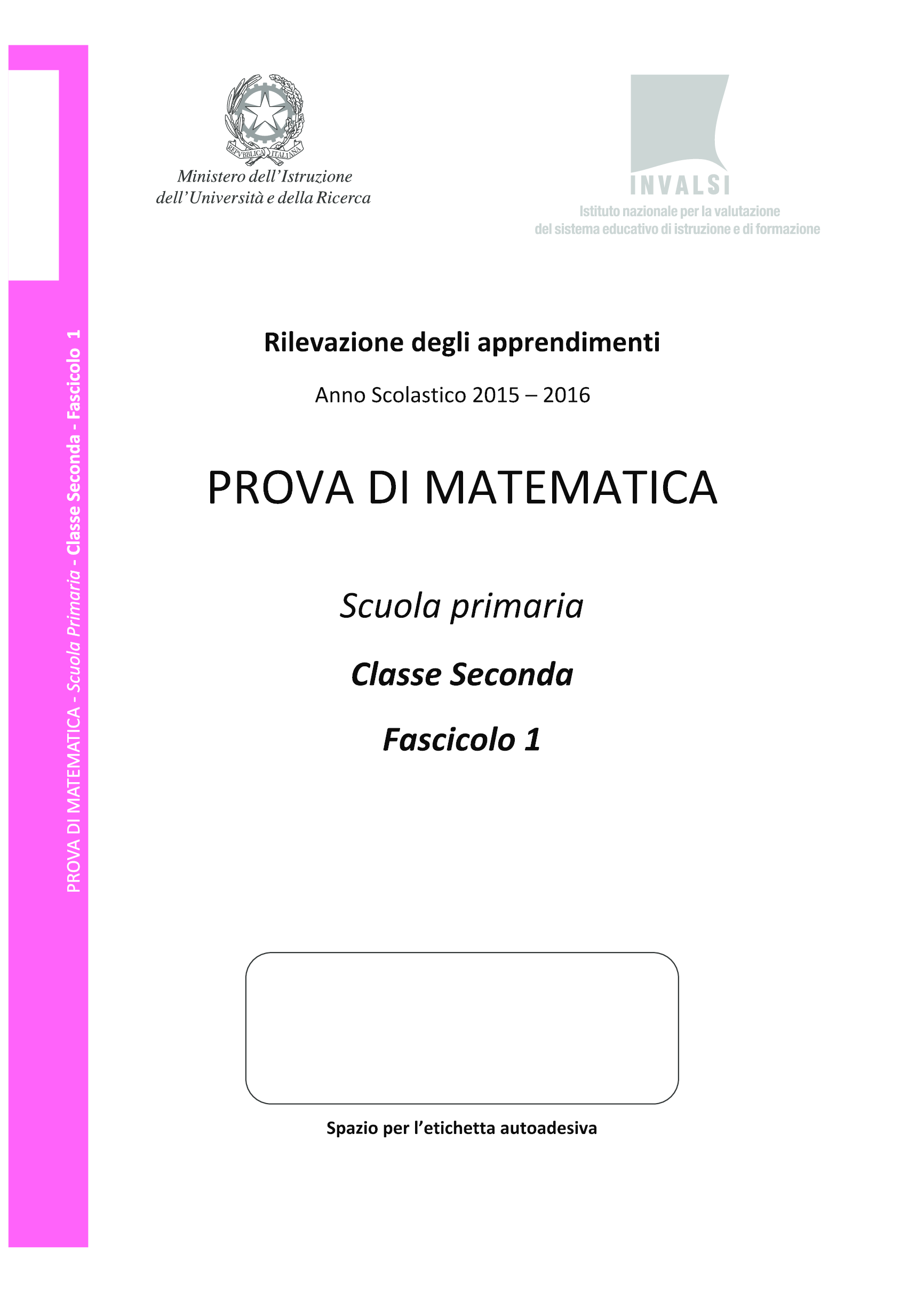 Invalsi-Primaria-seconda-2016 pg. 1