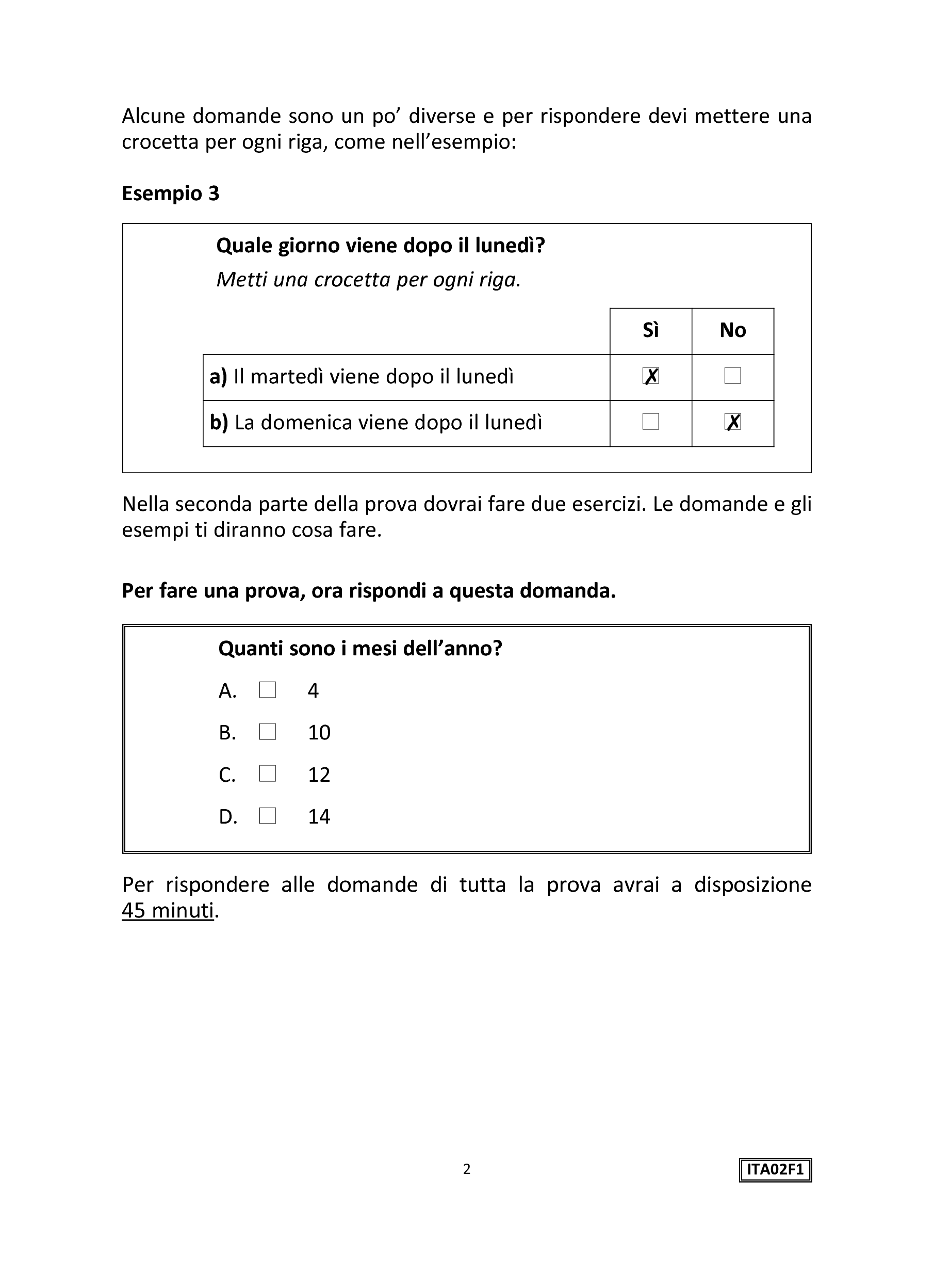 Invalsi Italiano Seconda Primaria 2015 pg. 4